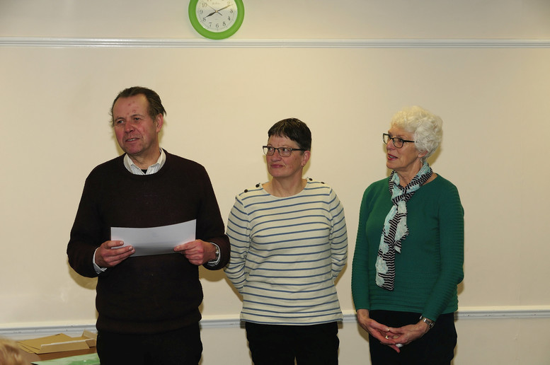 Sue Kipps, Sue Lee and Jonathan Ruff from the Crawley Down Pond Environmental Group - £200