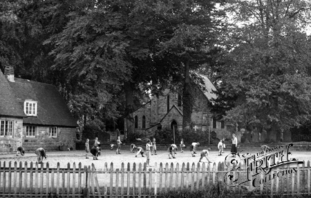 Crawley Down, the School and Church c1955.
