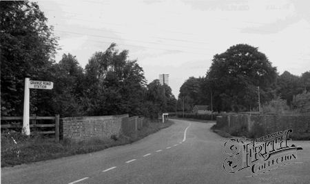 Crawley Down, railway Bridge over Turners Hill Road c1955.