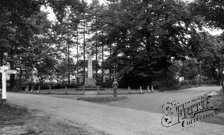 Crawley Down, the War memorial c1955.
