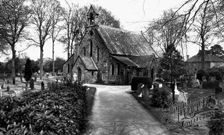 Crawley Down, All Saints' Church c1955.