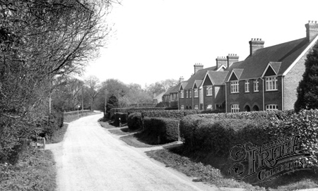 Crawley Down, Hophurst Road c1955.